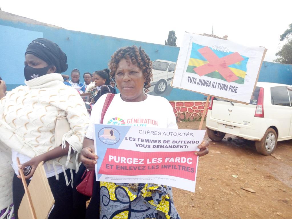 La DYEGOU et la LUCHA marchent pacifiquement contre l'insécurité à Beni
