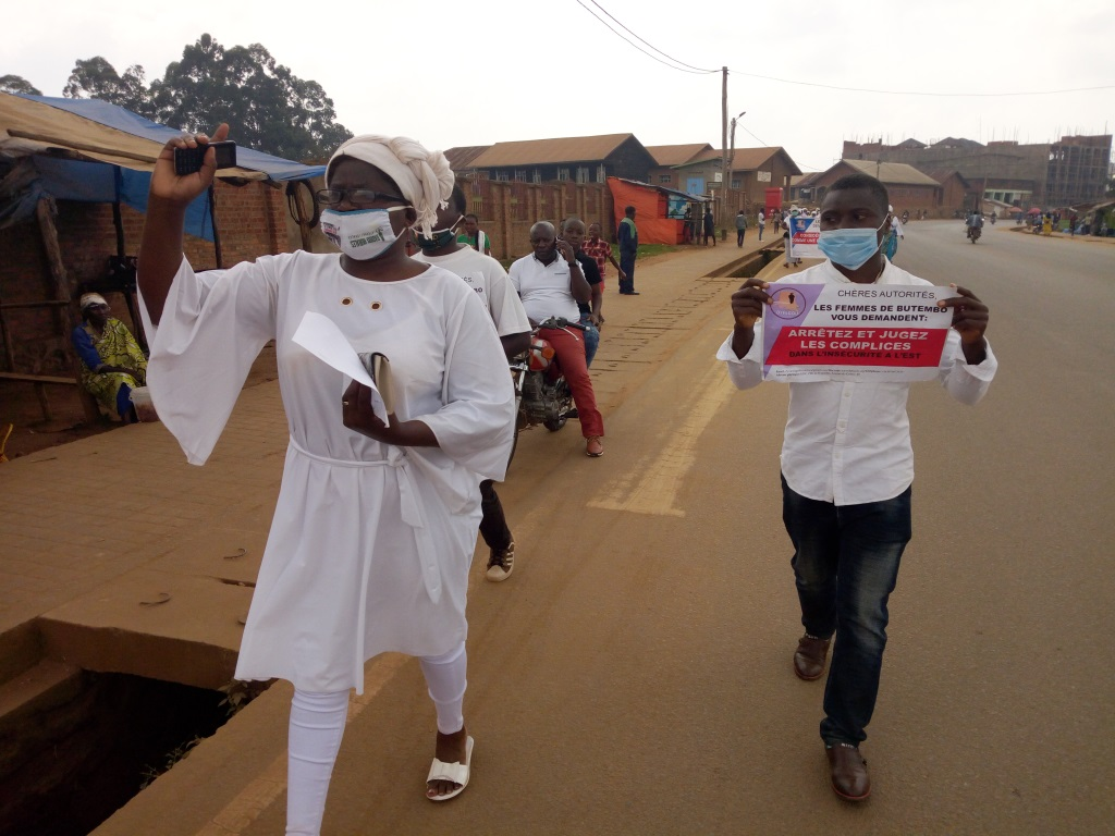 Nouvelle marche pacifique des femmes de Butembo contre les massacres de Beni